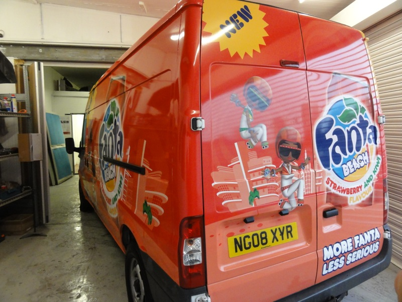 Ford Transit after Fanta Wrap