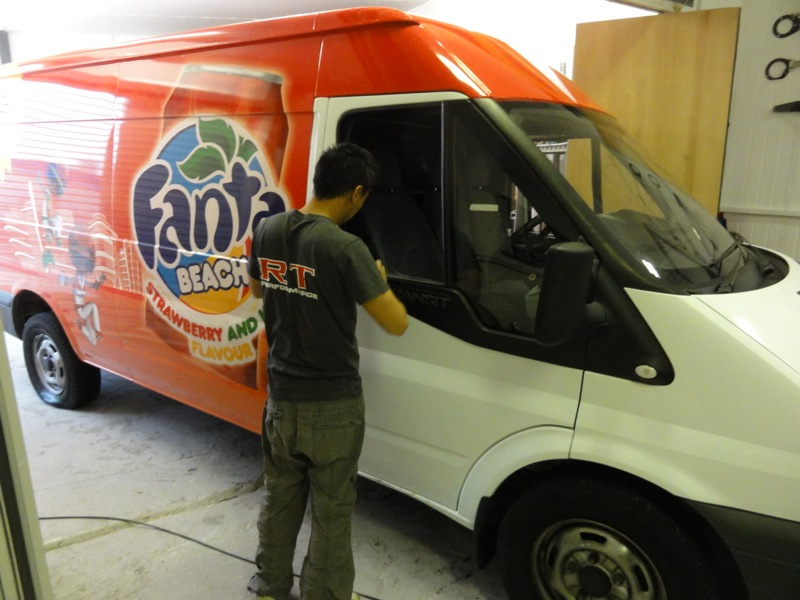Rt Performanceford Transit Fanta Wrap Rt Performance