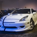 JDM VVTL-i Celica – custom spray paintwork, front lip and rear spoiler install