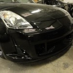 Nissan 350z arch rolling and Amuse bumper