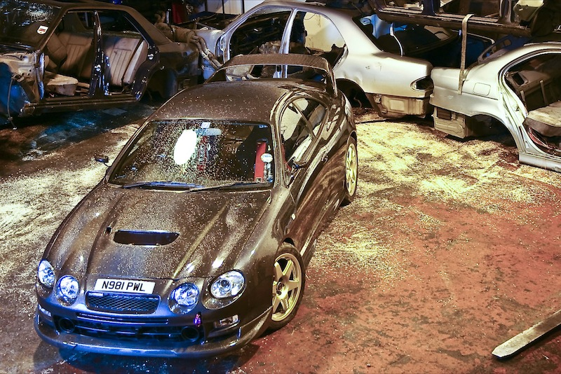 Toyota Celica GT4 after bodykit installation and respray