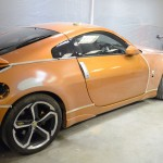 Nissan 350z orange car accident repair