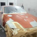 Nissan 350z orange accident repair in london