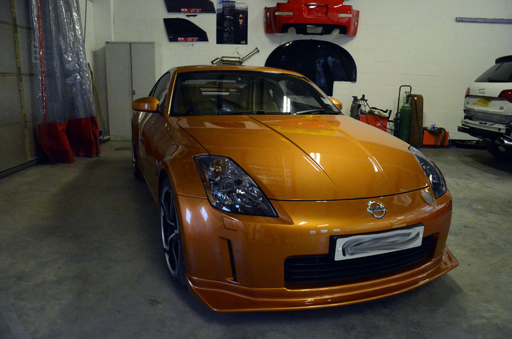 Nissan 350z accident repair
