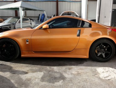 Nissan 350z orange sideskirts