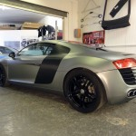 audi r8 grey and black carbon fibre vinyl