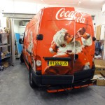 bespoke van advertising with vinyl wrap