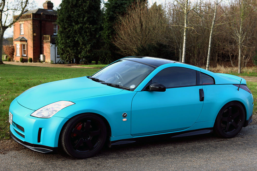 matte-blue-vinyl-wrap-car-london1